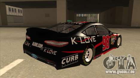 Ford Fusion NASCAR No. 98 K-LOVE pour GTA San Andreas vue de droite