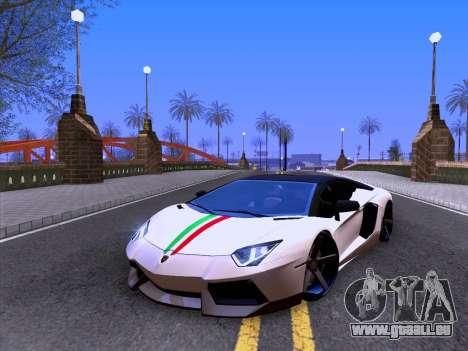 Lamborghini Aventador LP700-4 Vossen 2012 V2.0 F pour GTA San Andreas vue intérieure