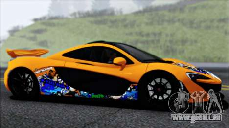 McLaren P1 2014 für GTA San Andreas Innen
