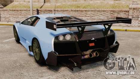 Lamborghini Murcielago RSV FIA GT1 v3.0 pour GTA 4 Vue arrière de la gauche