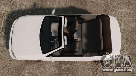 Daewoo Lanos 1997 Cabriolet Concept pour GTA 4 est un droit