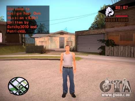 Nouveau menu et une nouvelle police pour GTA San Andreas neuvième écran
