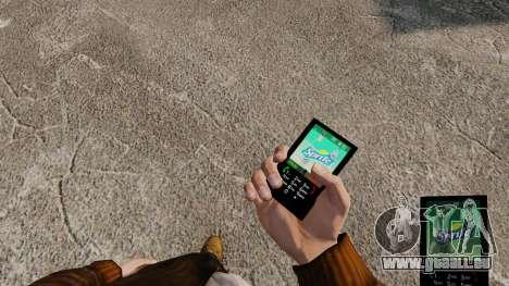 Thèmes pour les boissons de marques de téléphone pour GTA 4 cinquième écran