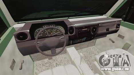 Toyota Land Cruiser 76 2005 pour GTA 4 Vue arrière