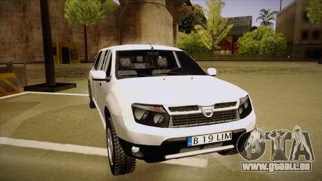 Dacia Duster Limuzina pour GTA San Andreas laissé vue