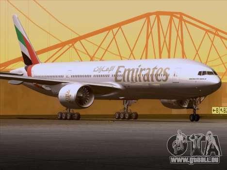 Boeing 777-21HLR Emirates pour GTA San Andreas vue intérieure