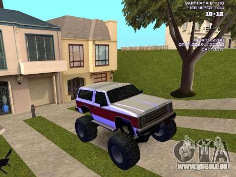 Rancher Monster pour GTA San Andreas vue arrière