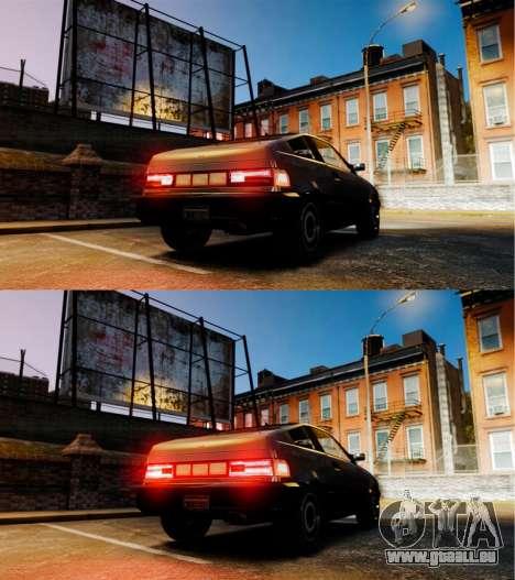 Blista nouveaux feux de marche arrière pour GTA 4 Vue arrière de la gauche