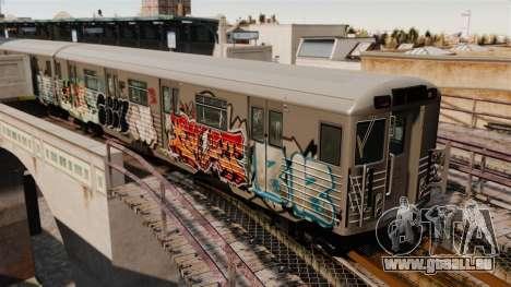 Neue Graffiti auf der U-Bahn-v1 für GTA 4