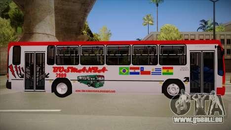 Busscar Urbanus SS Volvo B10 M Busmania pour GTA San Andreas sur la vue arrière gauche