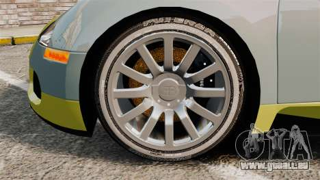 Bugatti Veyron Gold Centenaire 2009 pour GTA 4 Vue arrière
