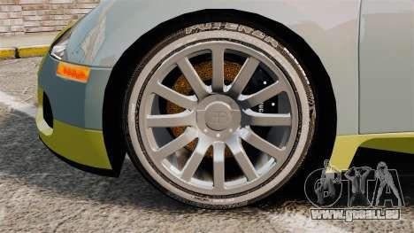 Bugatti Veyron Gold Centenaire 2009 für GTA 4 Rückansicht