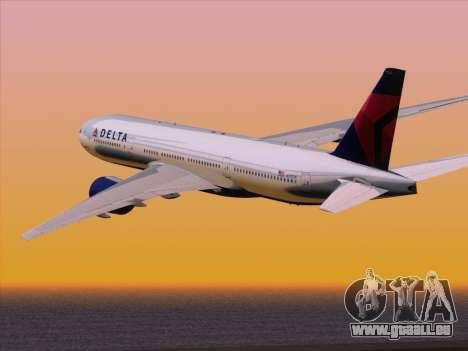 Boeing 777-200ER Delta Air Lines für GTA San Andreas Seitenansicht