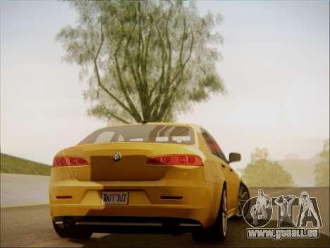 Alfa Romeo 159 Sedan pour GTA San Andreas laissé vue