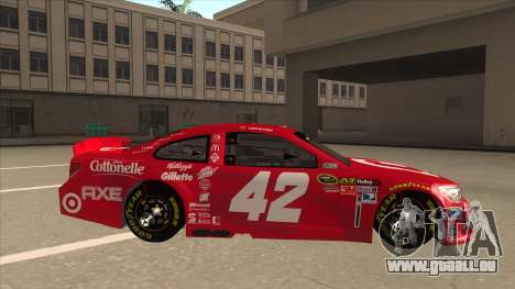 Chevrolet SS NASCAR No. 42 Clorox pour GTA San Andreas sur la vue arrière gauche