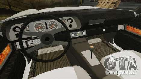 Chevrolet Camaro Z28 1970 pour GTA 4 est une vue de l'intérieur