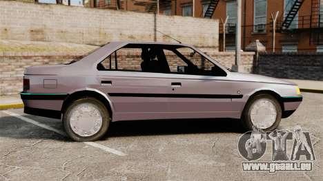 Peugeot 405 GLX pour GTA 4 est une gauche