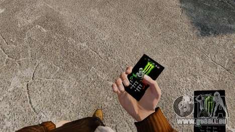 Thèmes pour les boissons de marques de téléphone pour GTA 4 secondes d'écran
