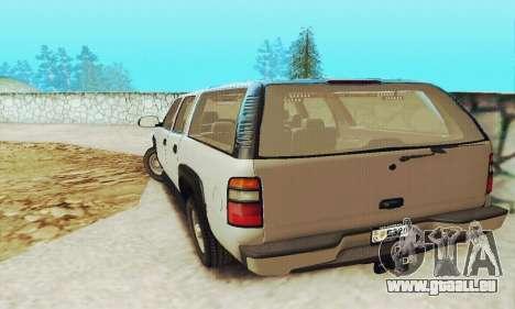 Chevrolet Suburban SAPD FBI für GTA San Andreas Rückansicht