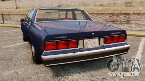 Chevrolet Caprice 1986 pour GTA 4 Vue arrière de la gauche