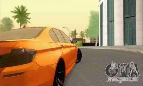 BMW M5 Vossen pour GTA San Andreas vue de droite