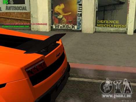 Lamborghini Gallardo LP560-4 SL UGR Altecho pour GTA San Andreas sur la vue arrière gauche