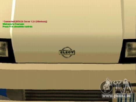 New Elegy pour GTA San Andreas vue de côté