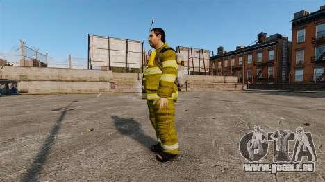 Gelbe Uniformen für Feuerwehrleute für GTA 4 Sekunden Bildschirm