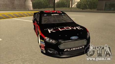 Ford Fusion NASCAR No. 98 K-LOVE für GTA San Andreas linke Ansicht
