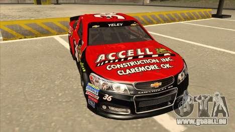Chevrolet SS NASCAR No. 36 Accell für GTA San Andreas linke Ansicht