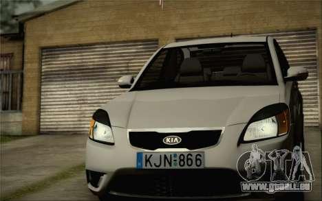 Kia Rio II 2009 für GTA San Andreas Innenansicht