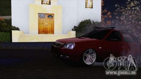 VAZ Lada Priora 2170 pour GTA San Andreas laissé vue