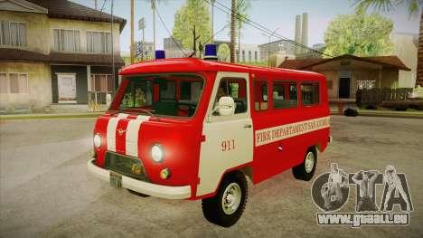 Siège UAZ 452 pompier SA pour GTA San Andreas