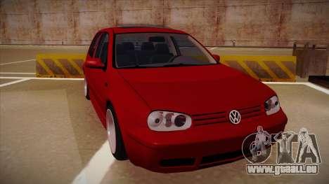 Volkswagen Golf Mk4 Euro pour GTA San Andreas laissé vue