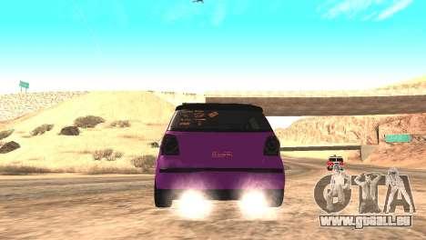 Volkswagen German Polo pour GTA San Andreas sur la vue arrière gauche