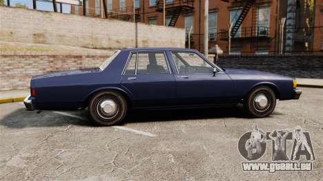 Chevrolet Caprice 1986 pour GTA 4 est une gauche