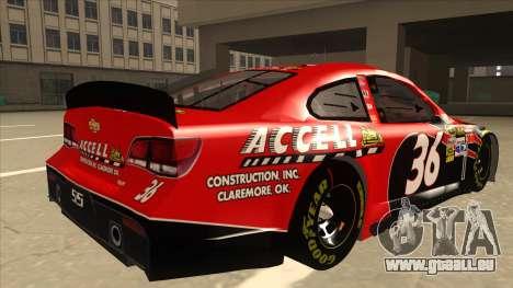 Chevrolet SS NASCAR No. 36 Accell pour GTA San Andreas vue de droite