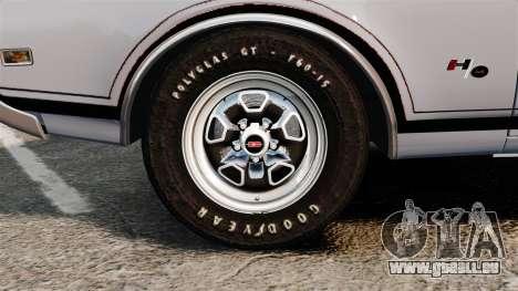Oldsmobile Cutlass Hurst 442 1969 v2 für GTA 4 Rückansicht