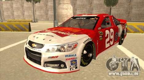 Chevrolet SS NASCAR No. 29 Budweiser für GTA San Andreas