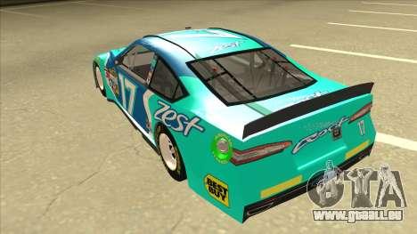 Ford Fusion NASCAR No. 17 Zest Nationwide pour GTA San Andreas vue arrière