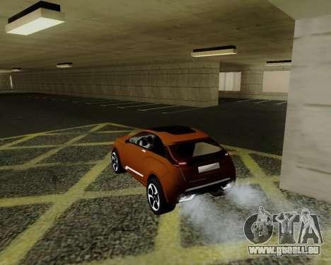 Lada X-RAY pour GTA San Andreas sur la vue arrière gauche