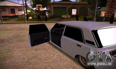 VAZ 2107 Drain planté pour GTA San Andreas vue arrière