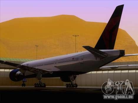 Boeing 777-200ER Delta Air Lines pour GTA San Andreas vue arrière