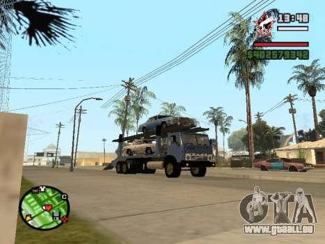 Camion KAMAZ 43085 pour GTA San Andreas sur la vue arrière gauche