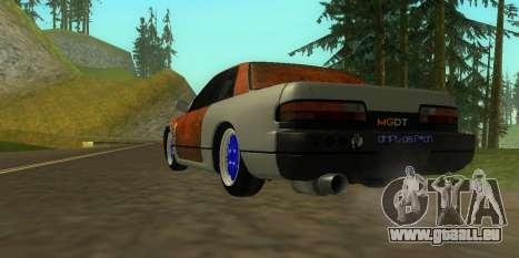 Nissan Silvia S13 MGDT pour GTA San Andreas laissé vue