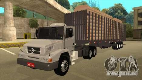 Auflieger zum Mercedes-Benz LS 2638 für GTA San Andreas zurück linke Ansicht