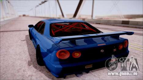 Nissan Skyline GT-R R34 für GTA San Andreas linke Ansicht