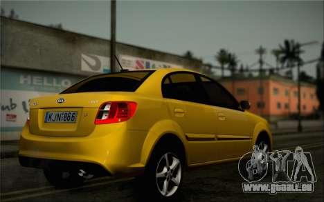 Kia Rio II 2009 für GTA San Andreas Rückansicht