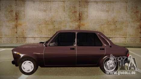 Zastava 101 pour GTA San Andreas sur la vue arrière gauche
