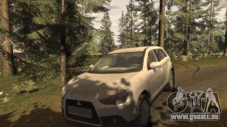 Mitsubishi ASX 2010 pour GTA 4 vue de dessus